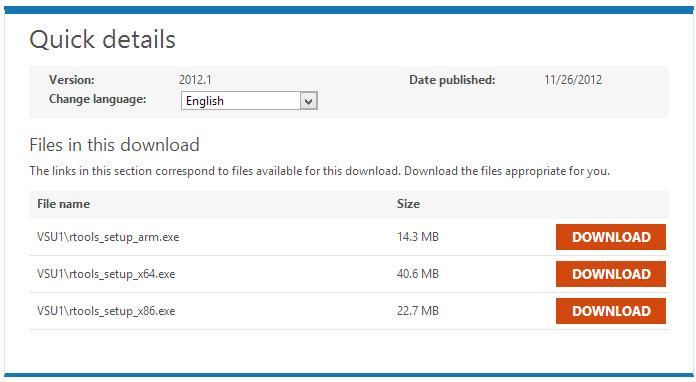 Remote Tool für Visual Studio 2012