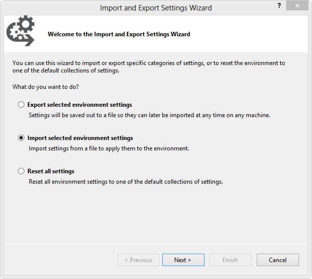 Import und Export Assistent #1