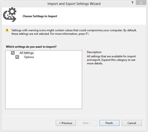 Import und Export Assistent #4