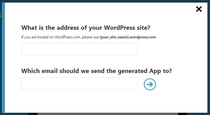Erster Einrichtungsschritt für eure WordPress-App