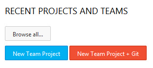 Neues Team-Projekt anlegen