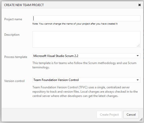 Ein neues Team Projekt anlegen