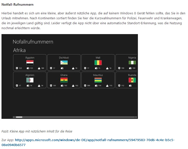 Empfehlung im Microsoft Blog