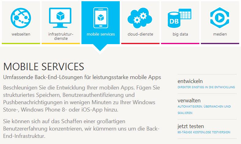 Vorstellung des WAMS (Quelle: http://www.windowsazure.com/de-de/home/scenarios/mobile-services/)